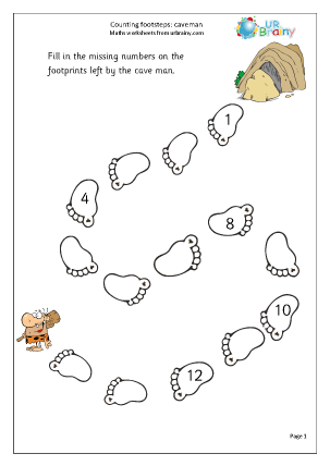 Extension: Counting Footsteps Counting Maths Worksheets