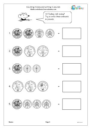 Counting Money Reasoning/Problem Solving Maths Worksheets