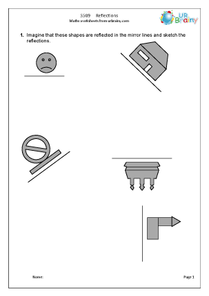 Reflections Geometry (Shape) Maths Worksheets For Year 5