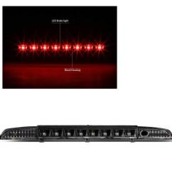 for 93 95 nissan pathfinder led third brake light rear 3rd tail stop lamp black [ 1200 x 1200 Pixel ]