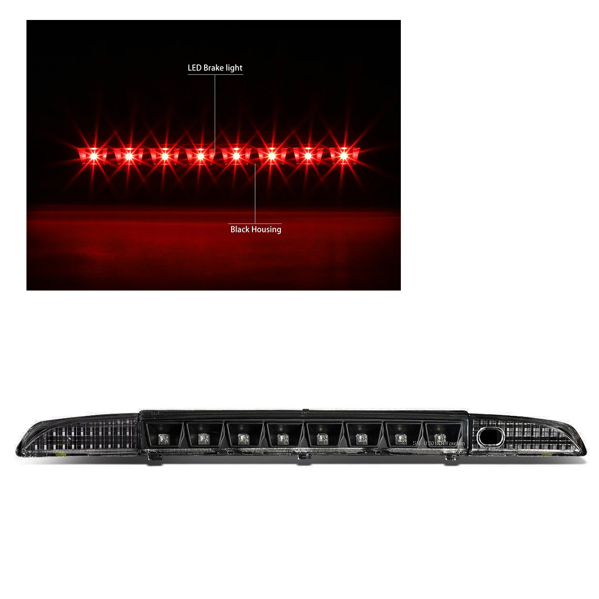 hight resolution of for 93 95 nissan pathfinder led third brake light rear 3rd tail stop lamp black