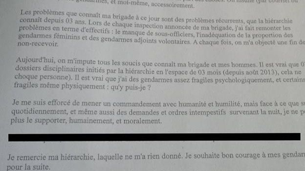 Suicide d'un gendarme : le parquet de Bourges classe l