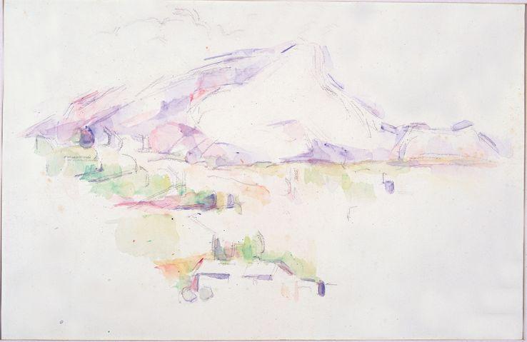 la montagne sainte victoire aquarelle