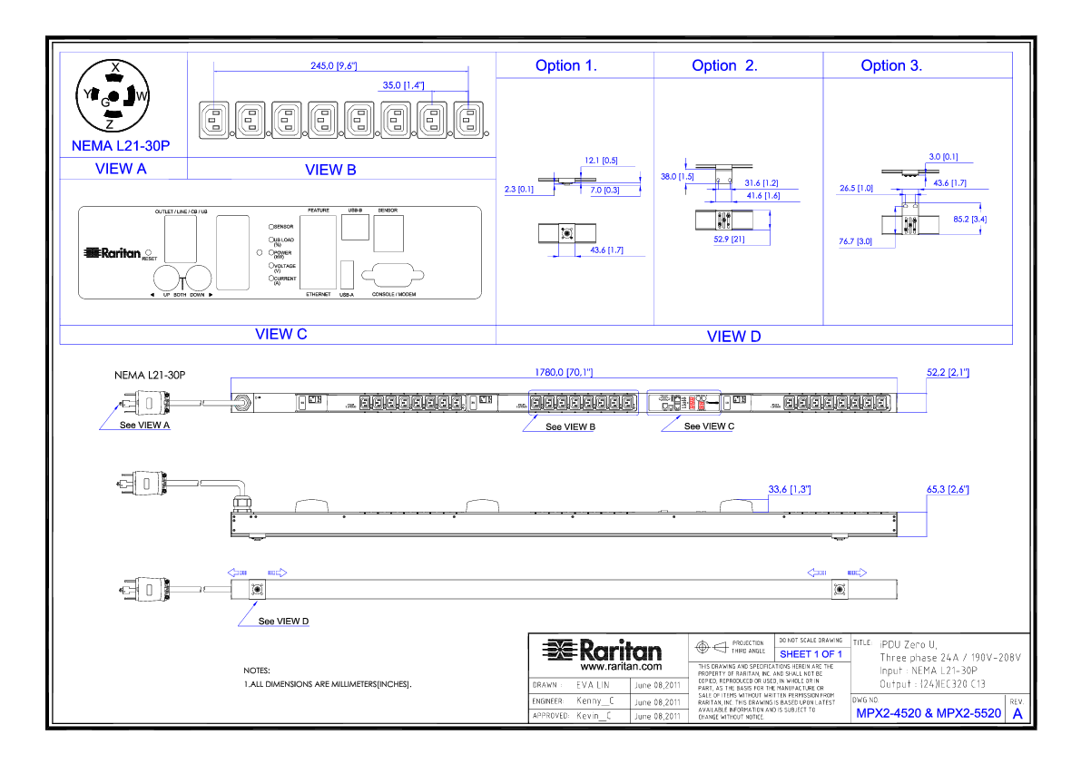 labelled diagram of ph meter air compressor piping layout raritan 3ph 208v ac 30a 24a rated 24 outlets c13