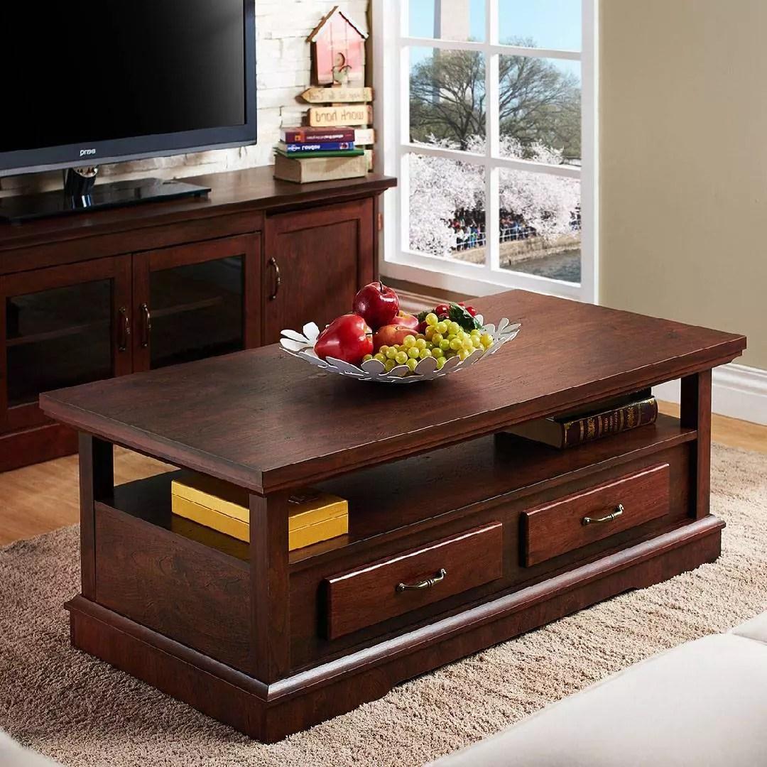 high texture retro coffee table safe