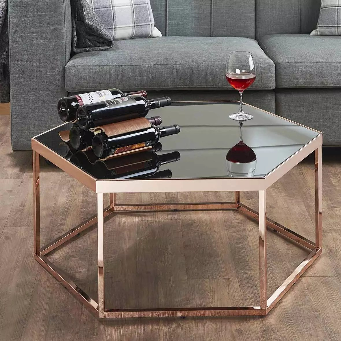 coffee table safe green wood