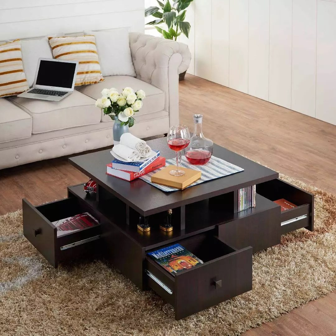 living room table with storage cute curtains for coffee office and home furniture livingroom tea desk space multi functional