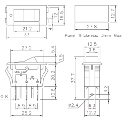 Illuminated Marine Rocker Switches Lighting Contactor Wiring Diagram Ir 2304 Switch Electrical And Socket Ir2304 Product Dimensions