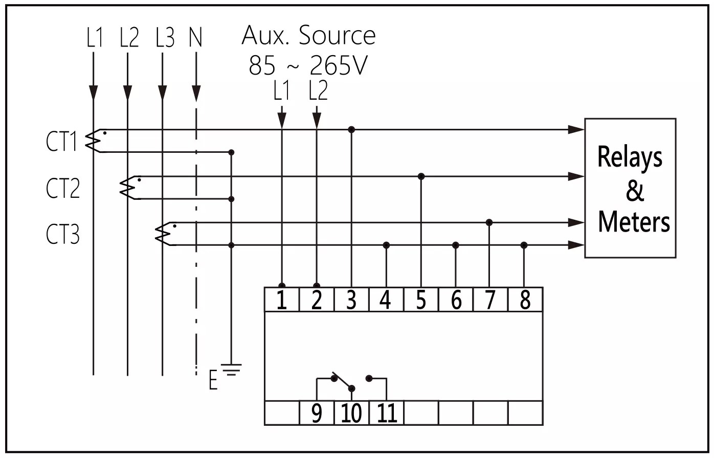 small resolution of overvoltage protector for current transformer protection wiring diagram