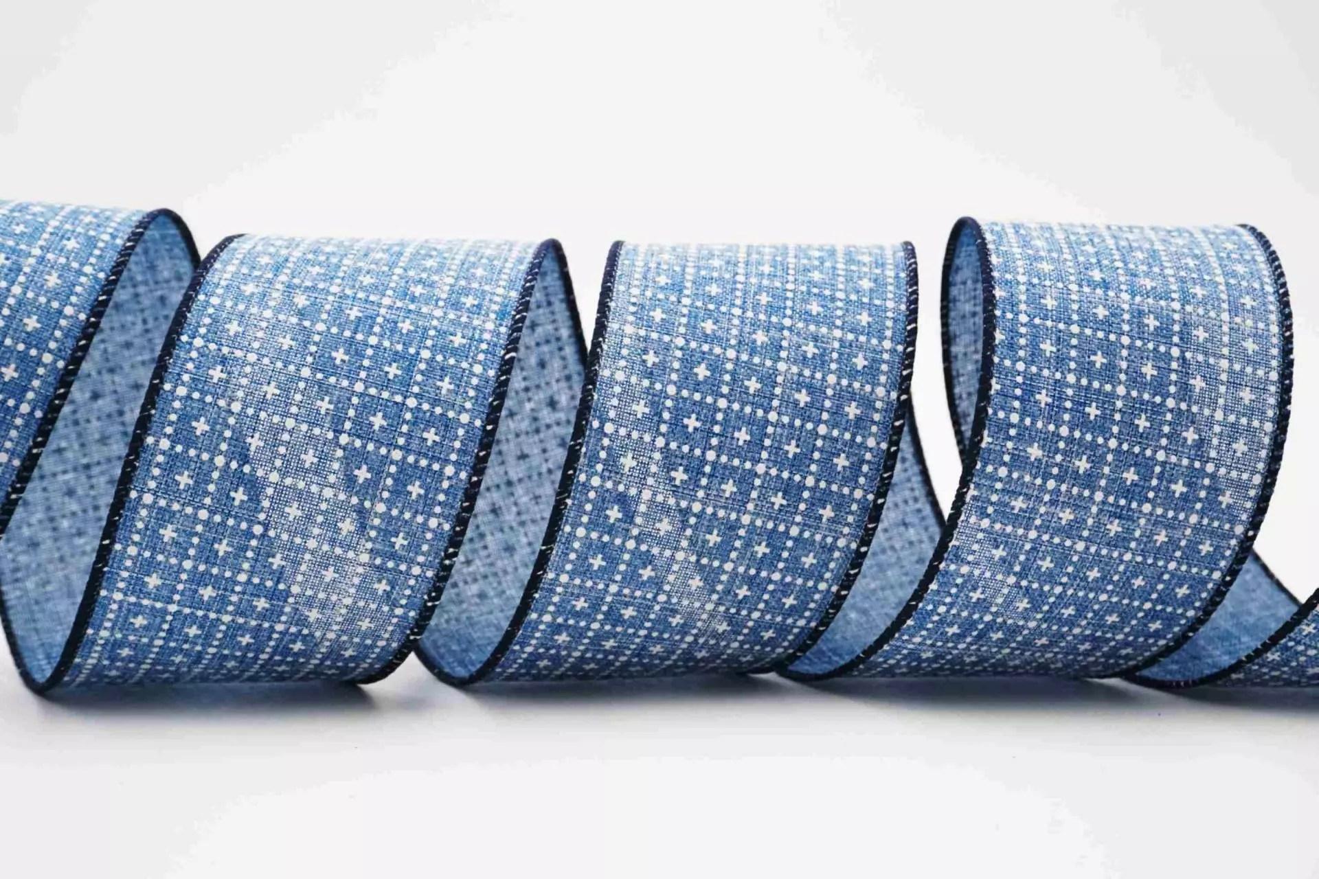 十字&點點圖案緞帶   臺灣高品質十字&點點圖案緞帶製造商   縉陽企業有限公司