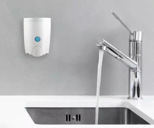 kitchen soap design programs homepluz dispenser plastic wall mounted easy refill