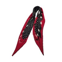 Herms Red printed plisse Scarf - Buy Second hand Herms ...