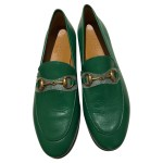 Gucci Slippers Ballerinas Leather In Green Second Hand Gucci Slippers Ballerinas Leather In Green Buy Used For 450 4646021