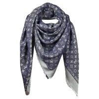 Louis Vuitton Monogram Blue Denim shawl - Buy Second hand ...