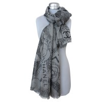 Chanel Shawl from cashmere and silk - Buy Second hand ...