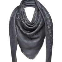 Louis Vuitton Dark Gray Monogram Shawl - Buy Second hand ...