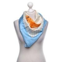 Bulgari Silk scarf with motif print - Buy Second hand ...
