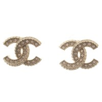 Chanel Gold stud earrings - Buy Second hand Chanel Gold ...