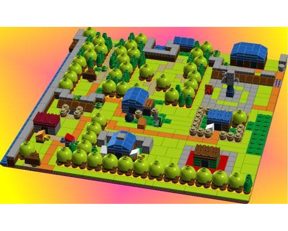 lego moc koholint village by kazumi