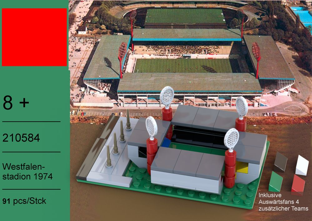 lego moc westfalenstadion 1974 by