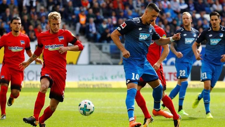 Hoffenheim empata na receção ao Hertha Berlim (1-1)