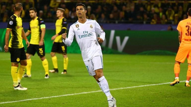 Bis de Ronaldo ajuda ao triunfo blanco em Dortmund