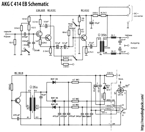 small resolution of akg acoustics c 414 eb recordinghacks com condenser microphone diagram microphone circuit page 2 audio