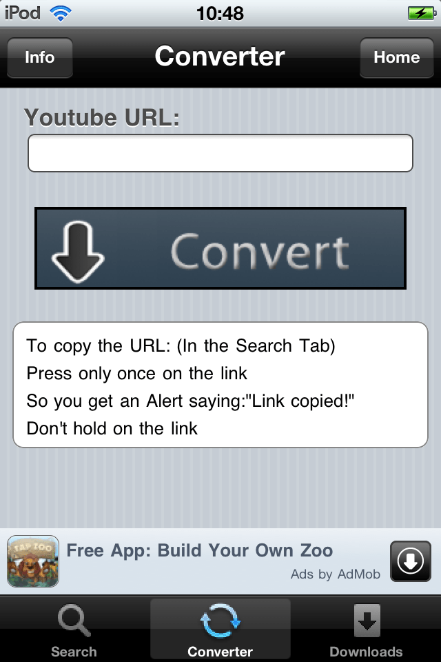 YoutubeToMP3 For IPhone Converts YouTube Videos Into MP3
