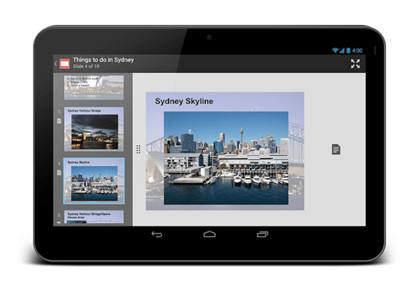 Google Drive android tablet