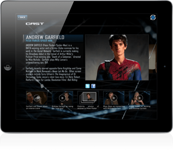 Spiderman second screen 1