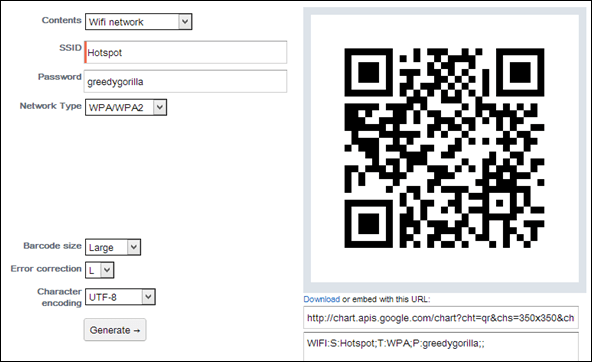 Generate Wi-Fi QR Codes And Share It With iPhone And