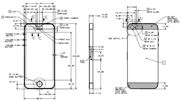 Official iPhone 5s / 5c Schematic Drawings Now Available
