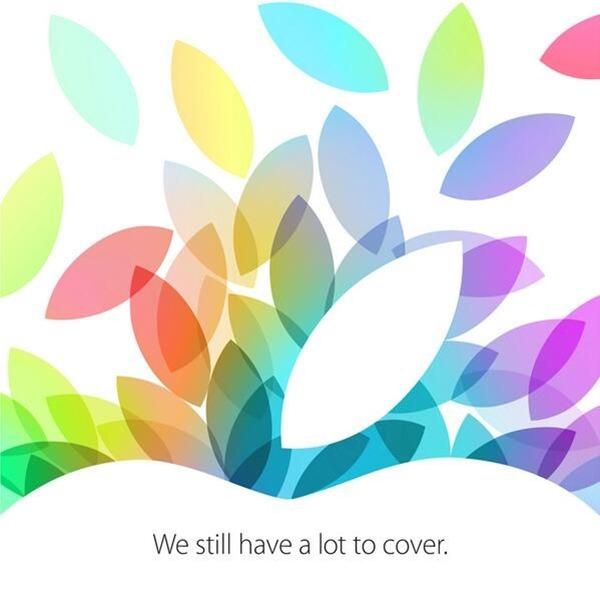 Apple iPad 5 mini 2 event invite october 22