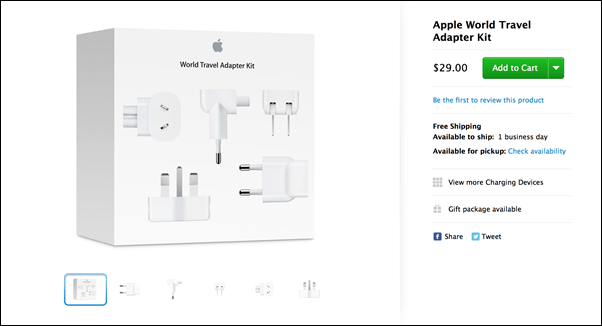 Apple's World Travel Adapter Kit Now Costs $29, Ditches 30
