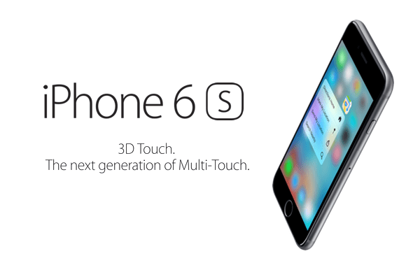 iPhone 6s 3D Touch main