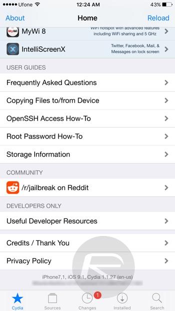 iPhone6Plusios9.1 jailbreak