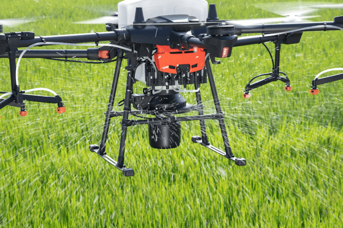 construction technology 2021 DJI drone spraying