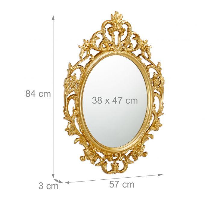 miroir ovale baroque avec cadre