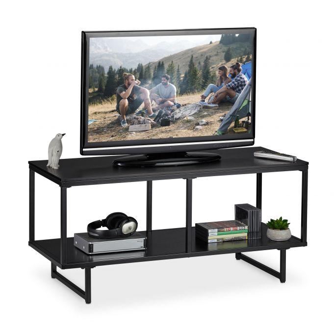 meuble tv mdf en noir