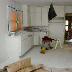 Repaint Kitchen Cabinets Ashley Furniture Table And Chairs Expert Tips On Painting Your In Progress The Hendrickson S Diy Overhaul Owego New York