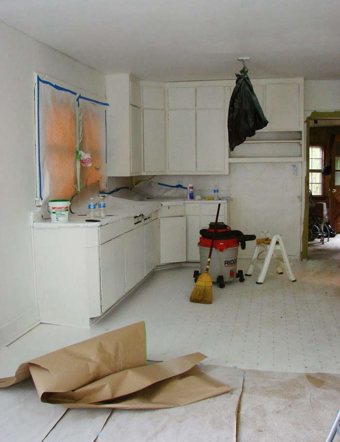 repaint kitchen cabinets island with sink for sale expert tips on painting your in progress the hendrickson s diy overhaul owego new york