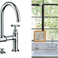 Bridge Faucets Kitchen Cabinets With Crown Molding 10 Easy Pieces Architects Go To Traditional That Wouldn T Take Months Arrive Architect Barbara Bestor And Client Abby Weintraub Chose The Axor Montreaux Widespread Faucet From Hansgrohe