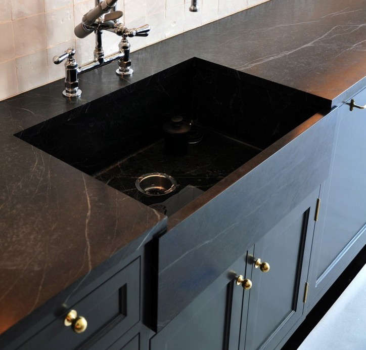 soapstone kitchen counters bronze faucets remodeling 101 countertops remodelista made black countertop sink