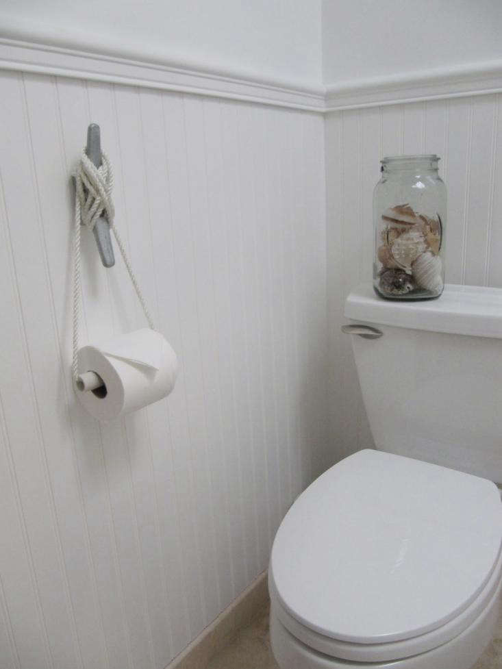 DIY Nautical Cleat as Toilet Roll Holder  Remodelista