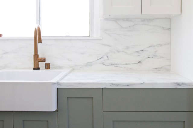 ikea kitchen counter booth table upgrade the semihandmade remodel remodelista above i ve always wanted a with marble countertops says sarah know they aren t most durable or practical but come on heart wants