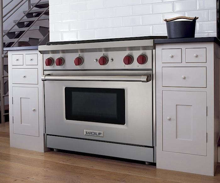 wolf kitchen ranges tile patterns a perfect pairing sub zero s french door refrigerator and new gas range remodelista