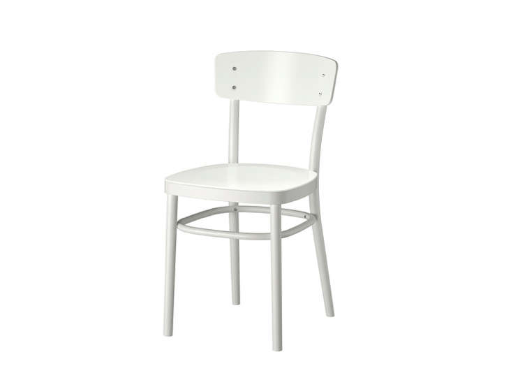 white chair ikea blue velvet armchair uk 10 easy pieces wood dining chairs for under 200 remodelista