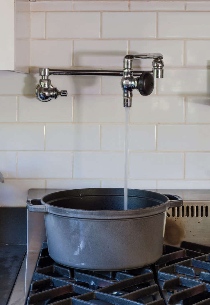 kitchen pot filler install island domestic dispatches why your needs a faucet julie carlson staub remodelista