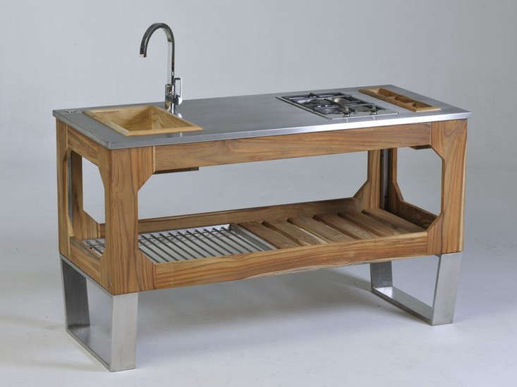 kitchen workbench exhaust systems 10 easy pieces modular workstations remodelista above designed by michelle villa for lgtek outdoor the steel and wood is best in between indoor spaces or kitchens that open