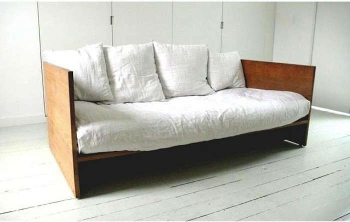 futon sofa bed melbourne black leather loveseat sleeper high/low: the modern wooden daybed - remodelista